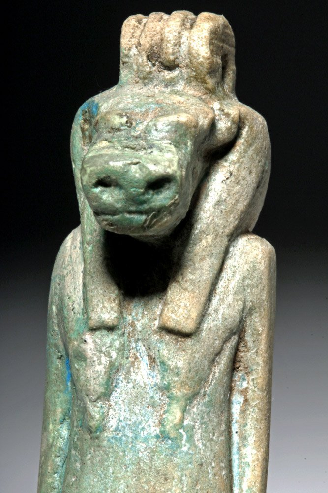 Large & Fine Egyptian Faience Amulet of Taweret - 6
