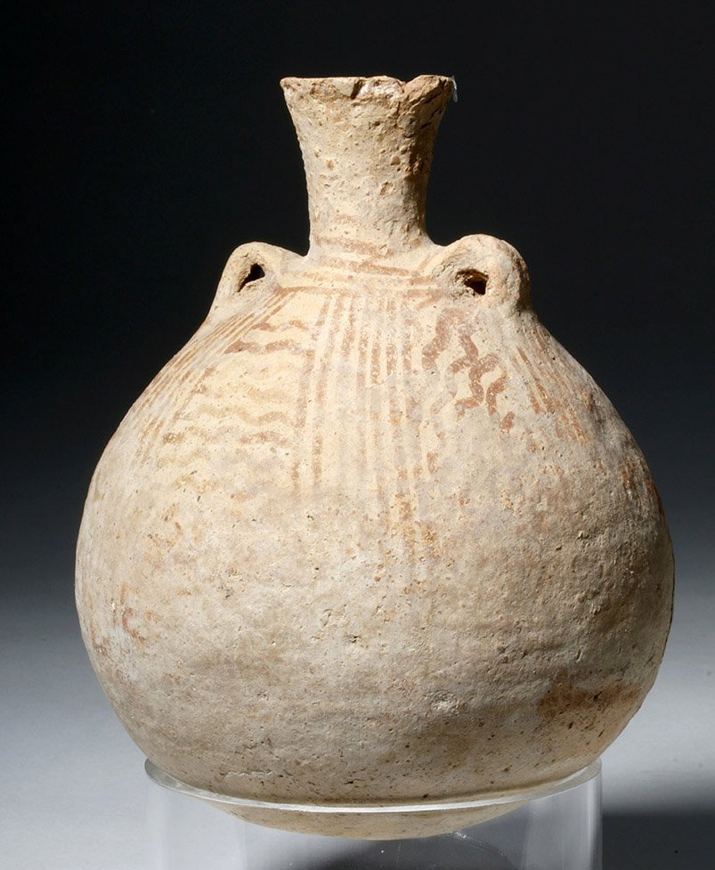 Cypriot Striped Pottery Jar - 4500 year Old!
