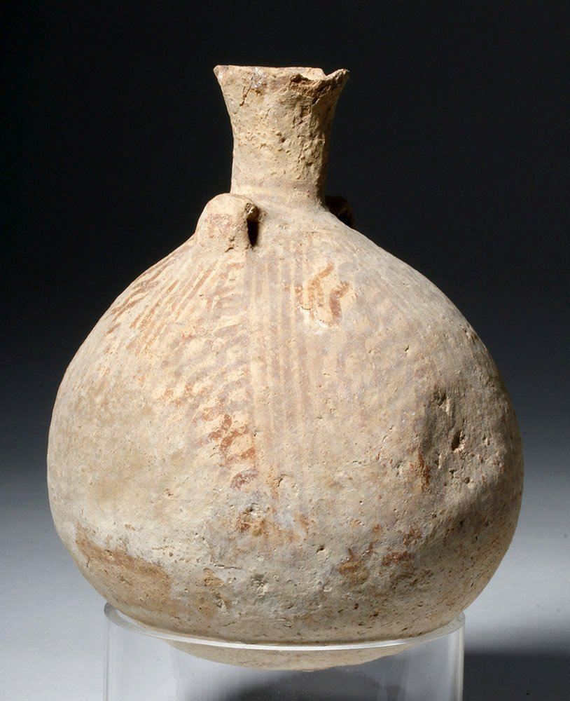Cypriot Striped Pottery Jar - 4500 year Old! - 2