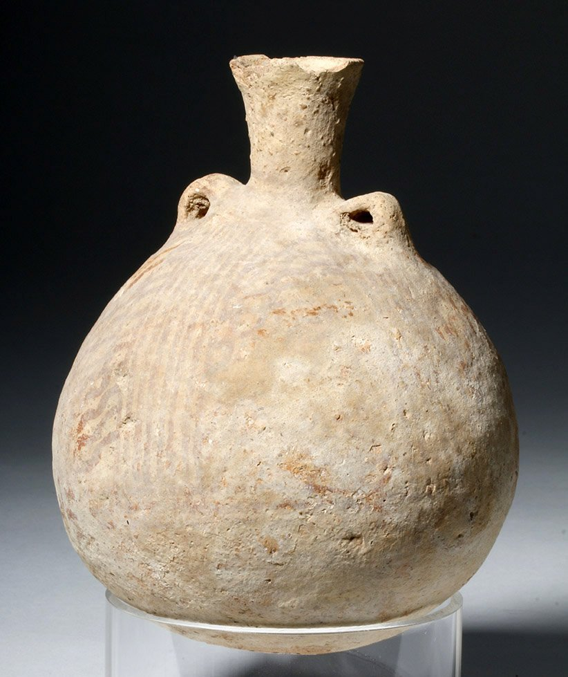 Cypriot Striped Pottery Jar - 4500 year Old! - 3