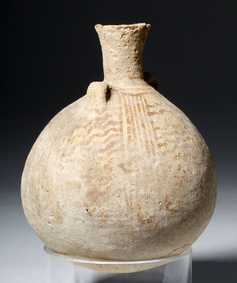 Cypriot Striped Pottery Jar - 4500 year Old! - 4
