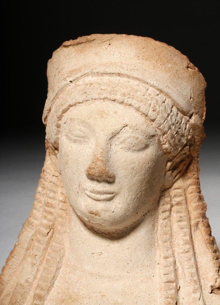 Western Greek Archaic Pottery Female Protome - 5