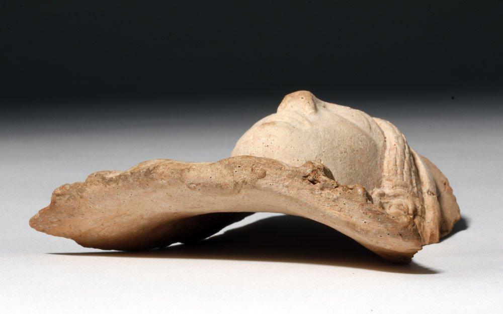 Western Greek Archaic Pottery Female Protome - 7