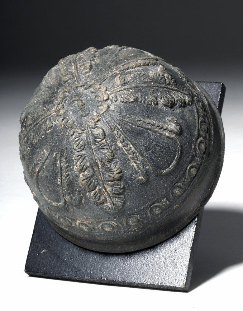 Superb Blackware Pottery Hellenistic Megarian Cup