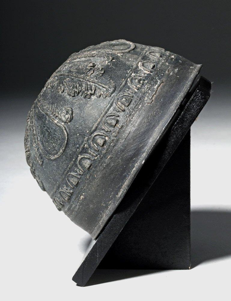 Superb Blackware Pottery Hellenistic Megarian Cup - 2