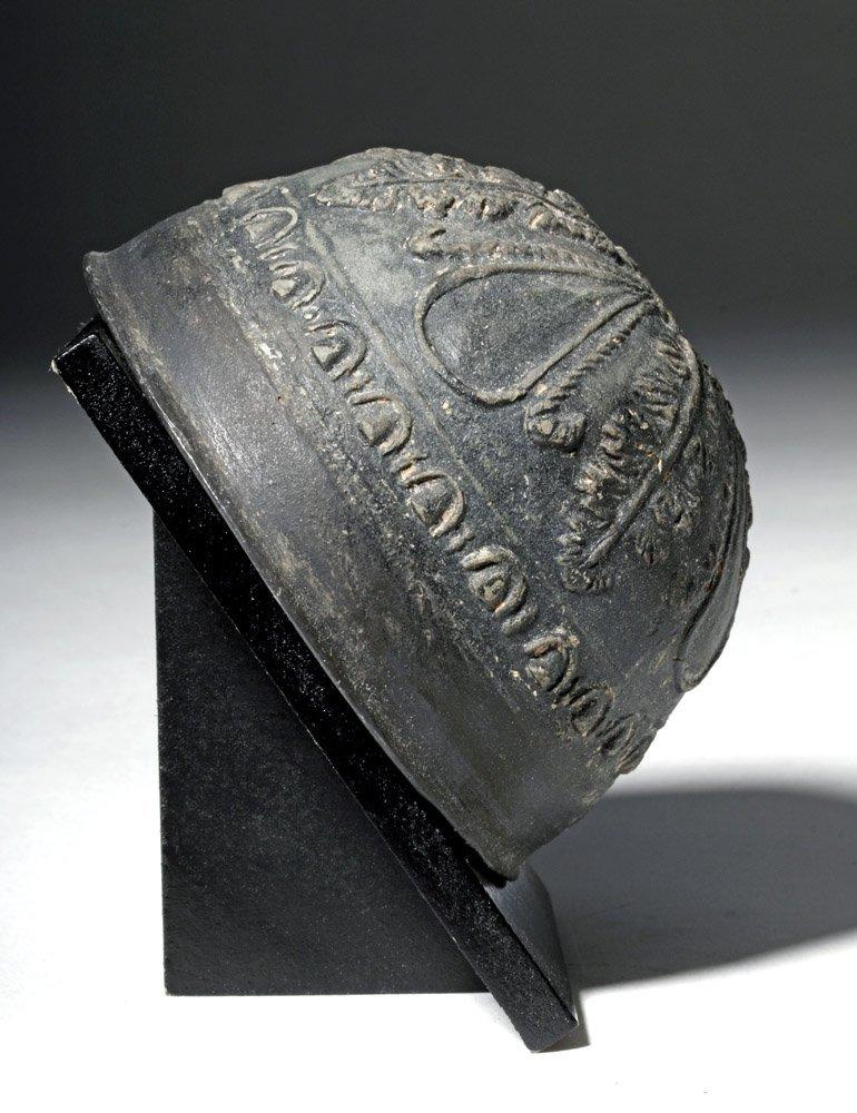 Superb Blackware Pottery Hellenistic Megarian Cup - 3