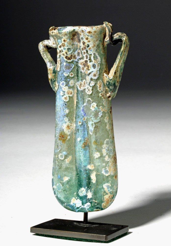 Gorgeous / Iridescent Roman Glass Double Unguent