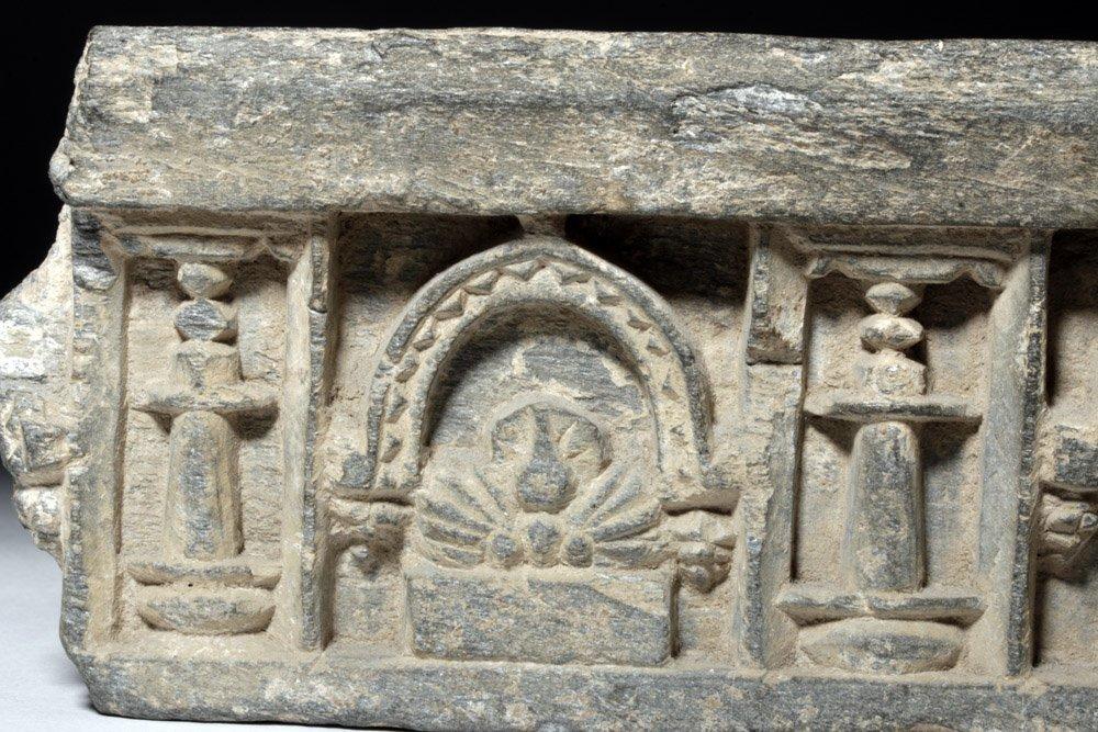 Very Fine Gandharan Schist Panel - Standing Buddha - 6