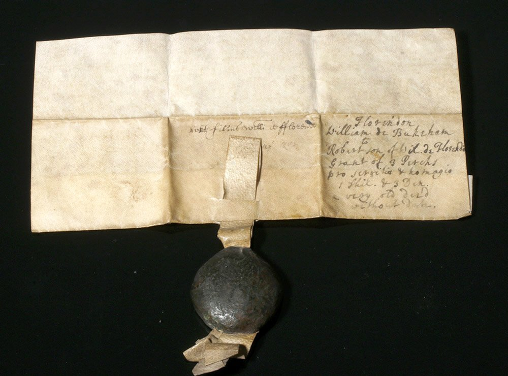 Rare 12th C. English Vellum Charter, William de Bukeham - 5