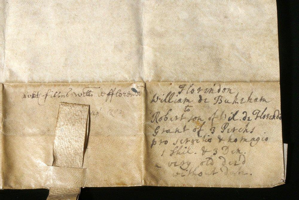 Rare 12th C. English Vellum Charter, William de Bukeham - 6