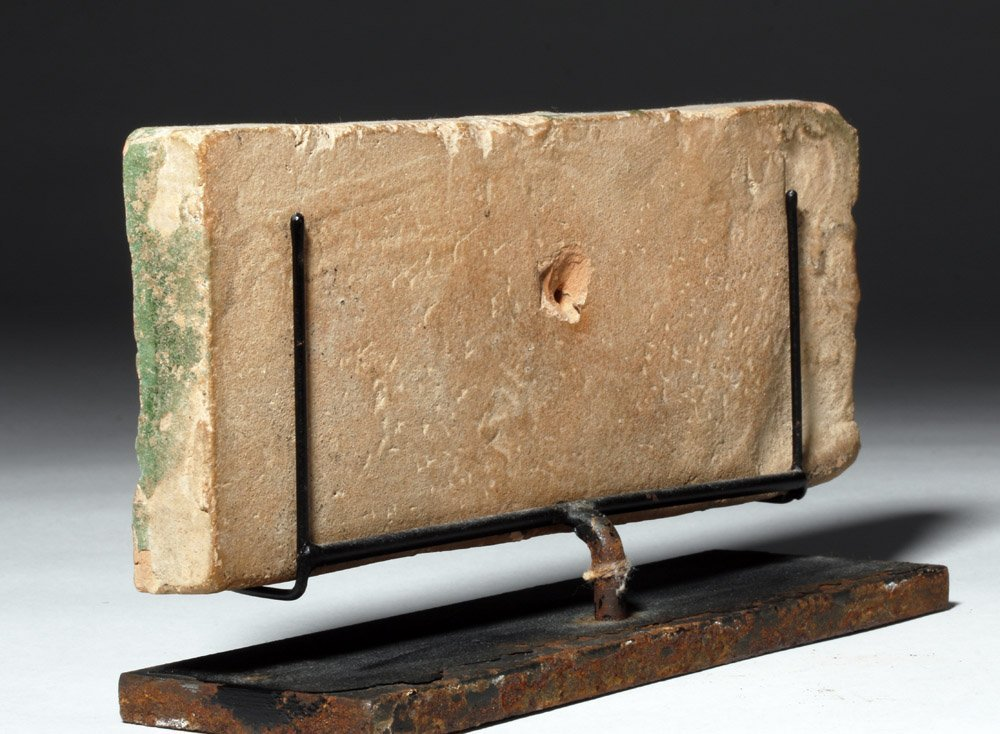 Chinese Green Glazed Pottery Temple Brick - 2