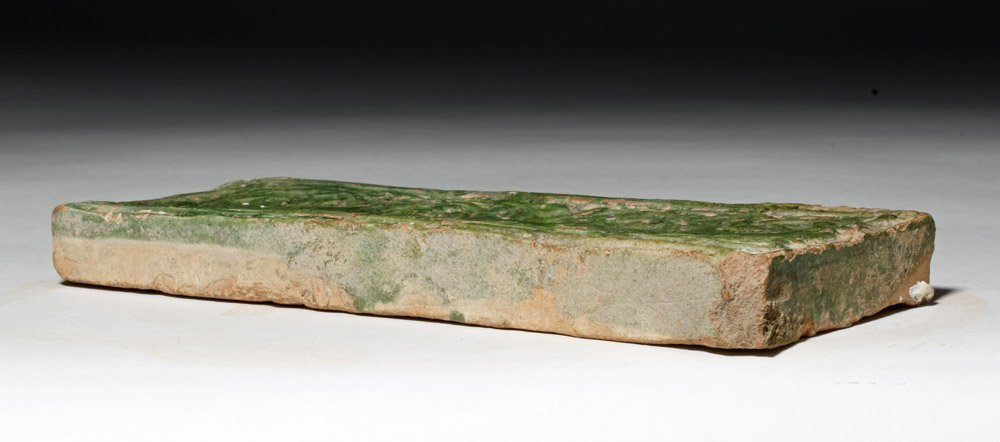 Chinese Green Glazed Pottery Temple Brick - 6