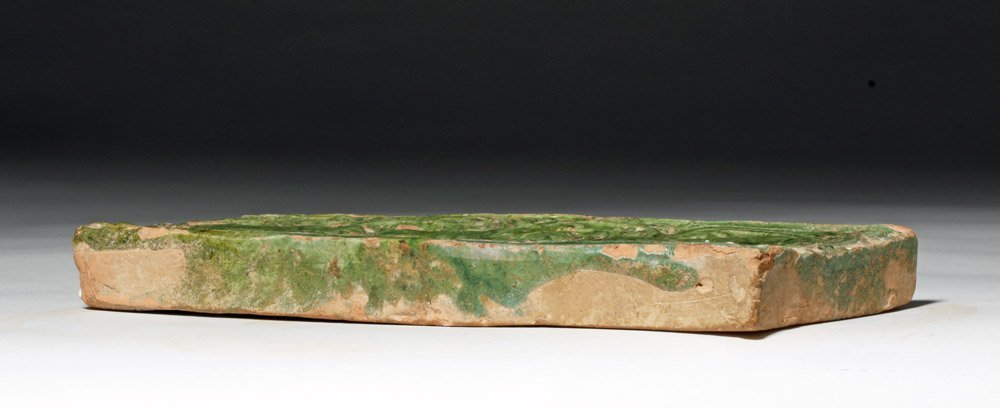 Chinese Green Glazed Pottery Temple Brick - 7