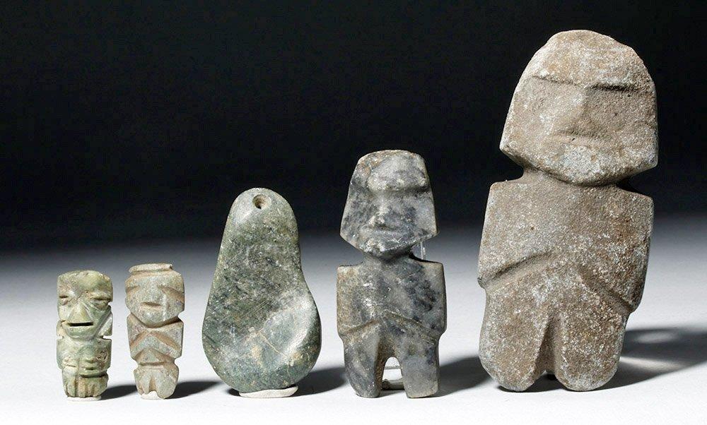 Five Guerrero Mezcala Stone Objects
