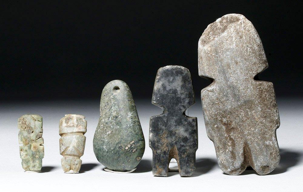 Five Guerrero Mezcala Stone Objects - 4
