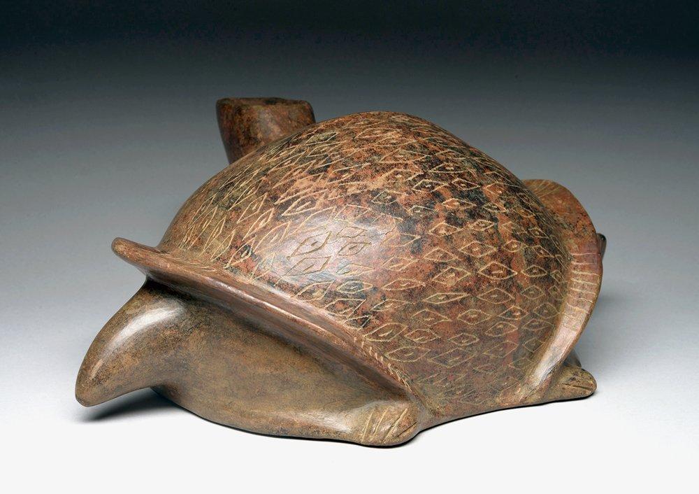 West Mexico Colima Redware Turtle - 2