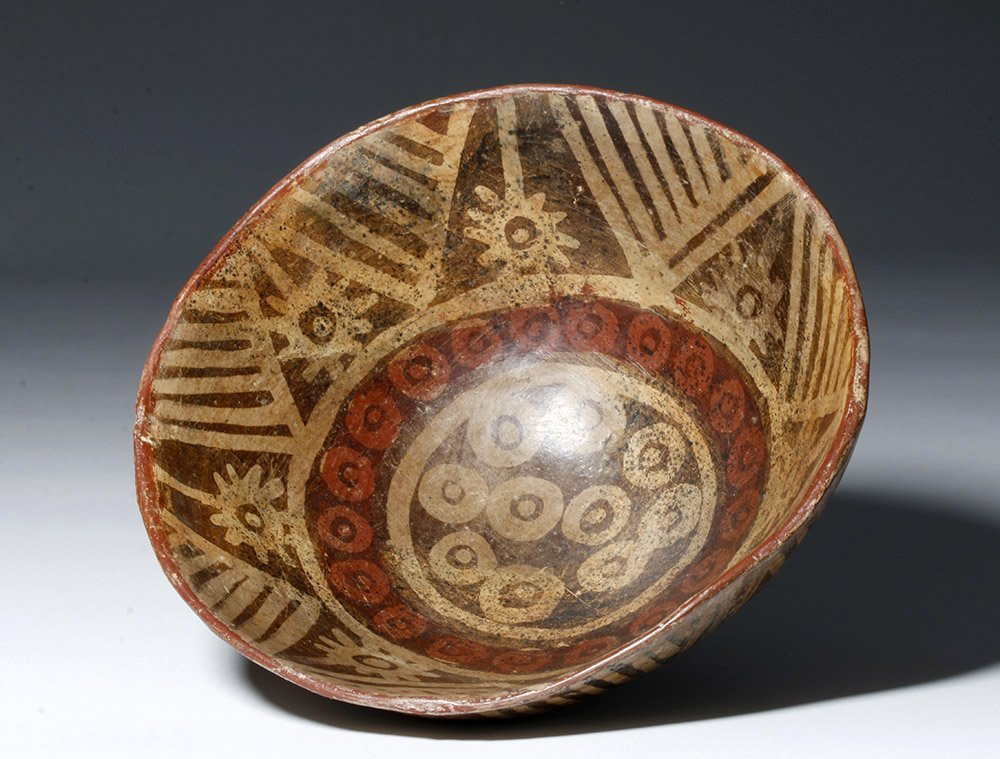 Fine Narino Pottery Footed Bowl