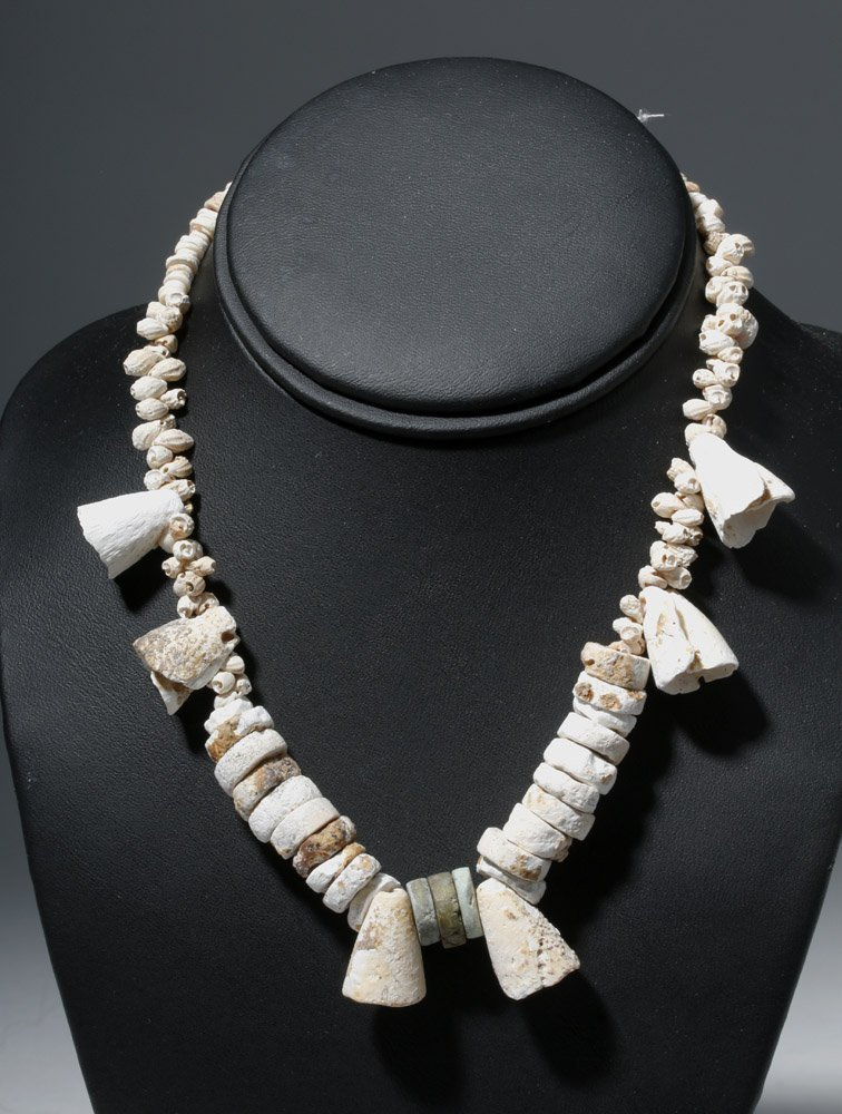 Museum Exhibited Pre-Columbian Toltec Shell Necklace - 2