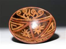 Narino Pottery Polychrome Monkey Bowl