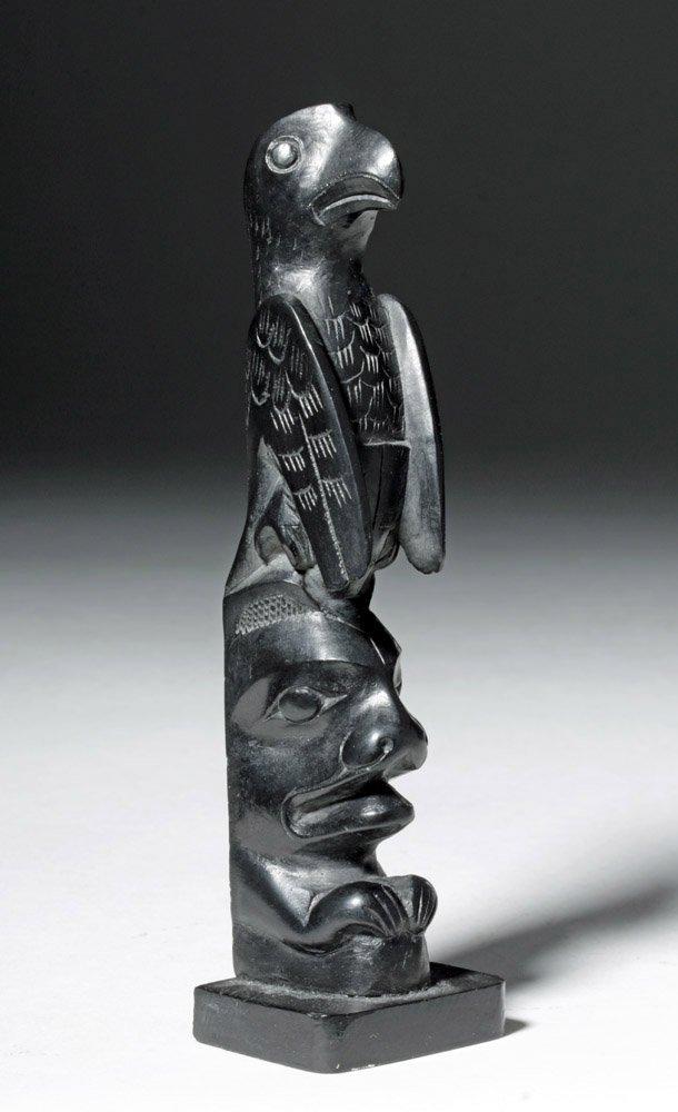 20th C. Pacific Northwest Haida Argillite Totem