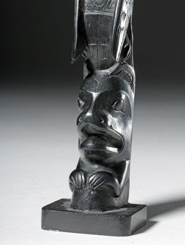 20th C. Pacific Northwest Haida Argillite Totem - 4