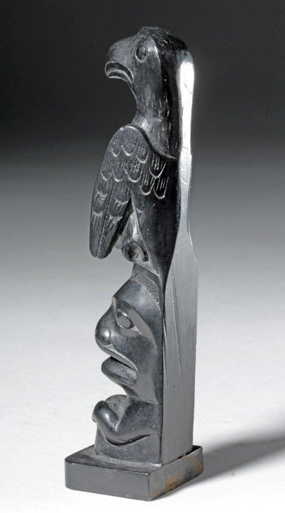 20th C. Pacific Northwest Haida Argillite Totem - 5
