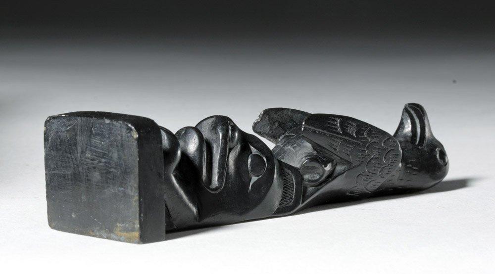 20th C. Pacific Northwest Haida Argillite Totem - 7