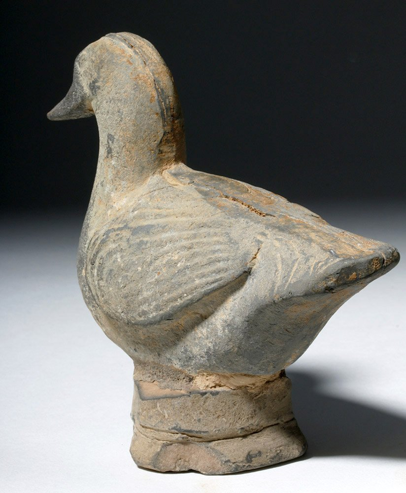 Chinese Tang Dynasty Greyware Pottery Duck - 2