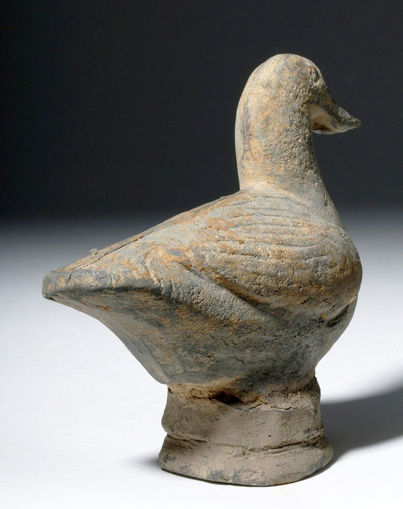 Chinese Tang Dynasty Greyware Pottery Duck - 3