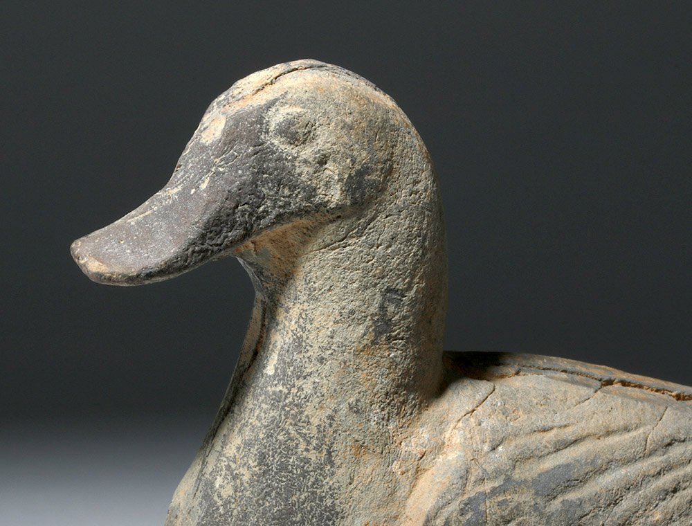 Chinese Tang Dynasty Greyware Pottery Duck - 5