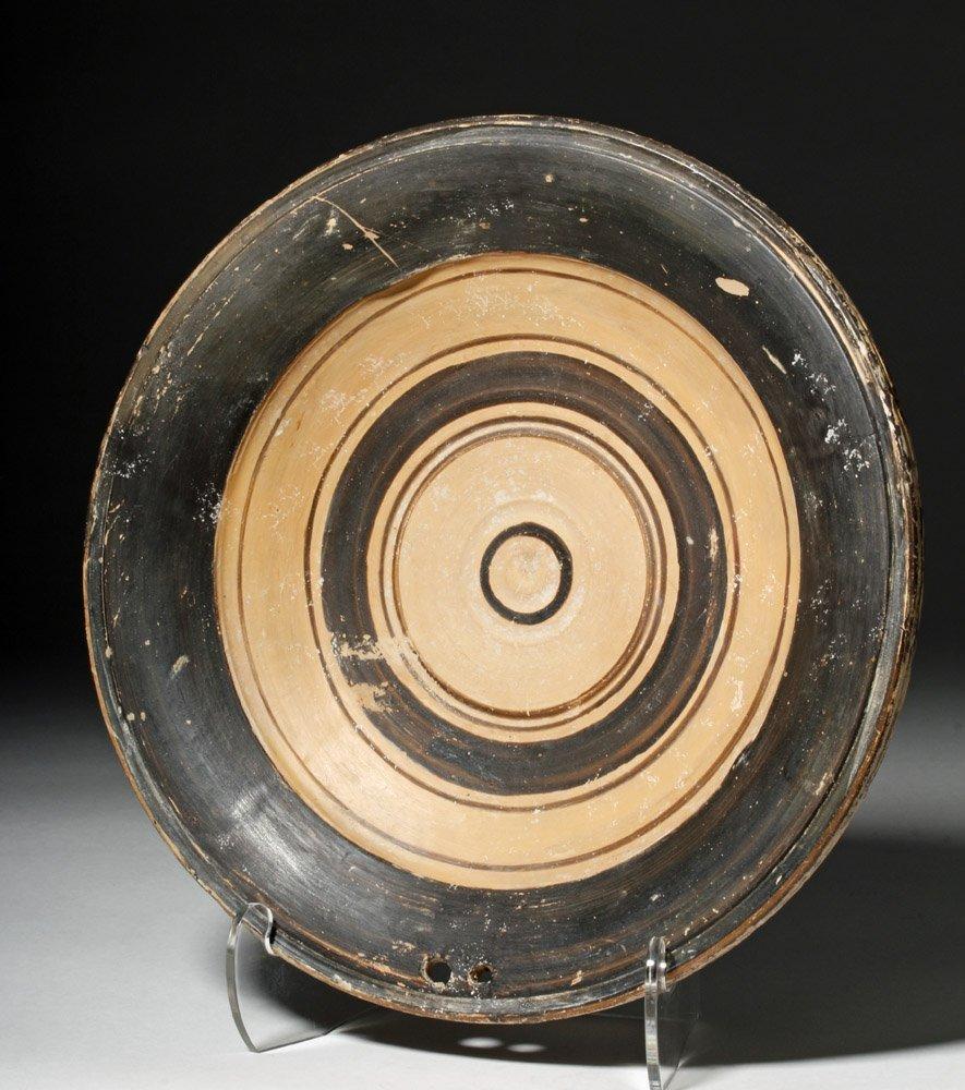 Greek Daunian Pottery Plate