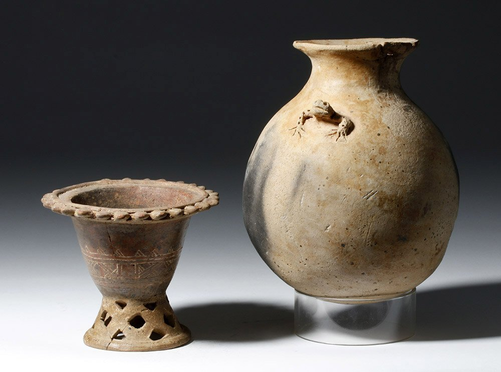 Pair of Costa Rican Pottery Vessels - 3