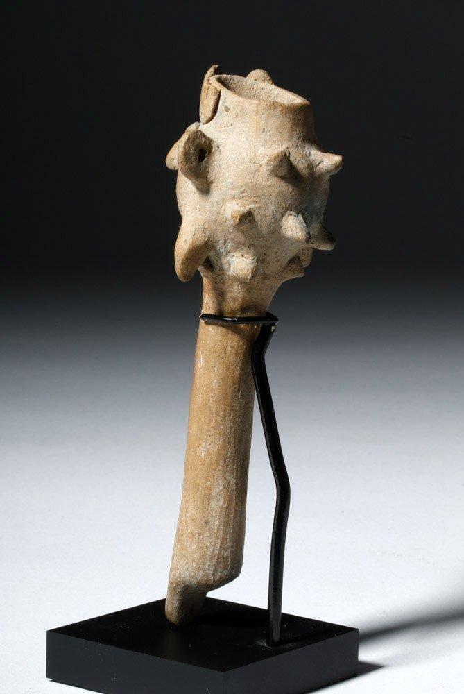 Pre-Columbian Colima Pottery Flute - Rare Form - 2