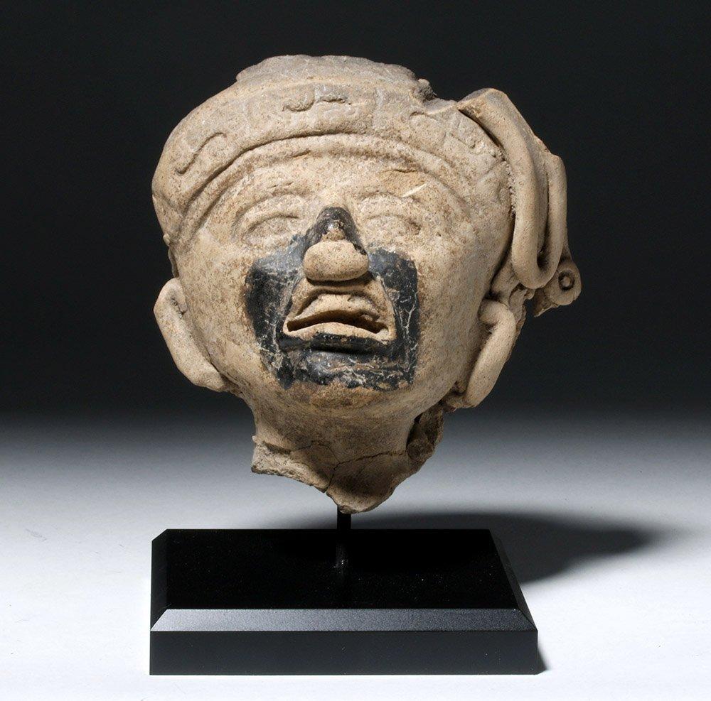 Veracruz Pottery Face - w/ Bitumen Pigment
