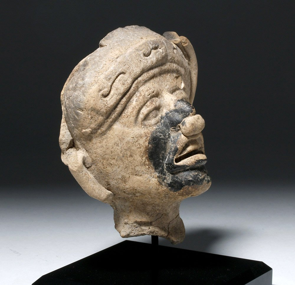 Veracruz Pottery Face - w/ Bitumen Pigment - 2