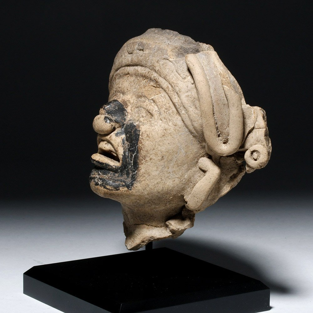 Veracruz Pottery Face - w/ Bitumen Pigment - 3
