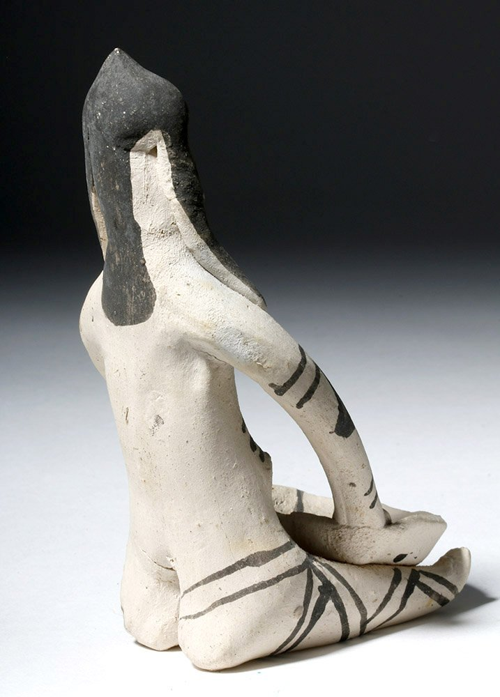 Amazonian Karaja Indian Pottery Female Figure - 3