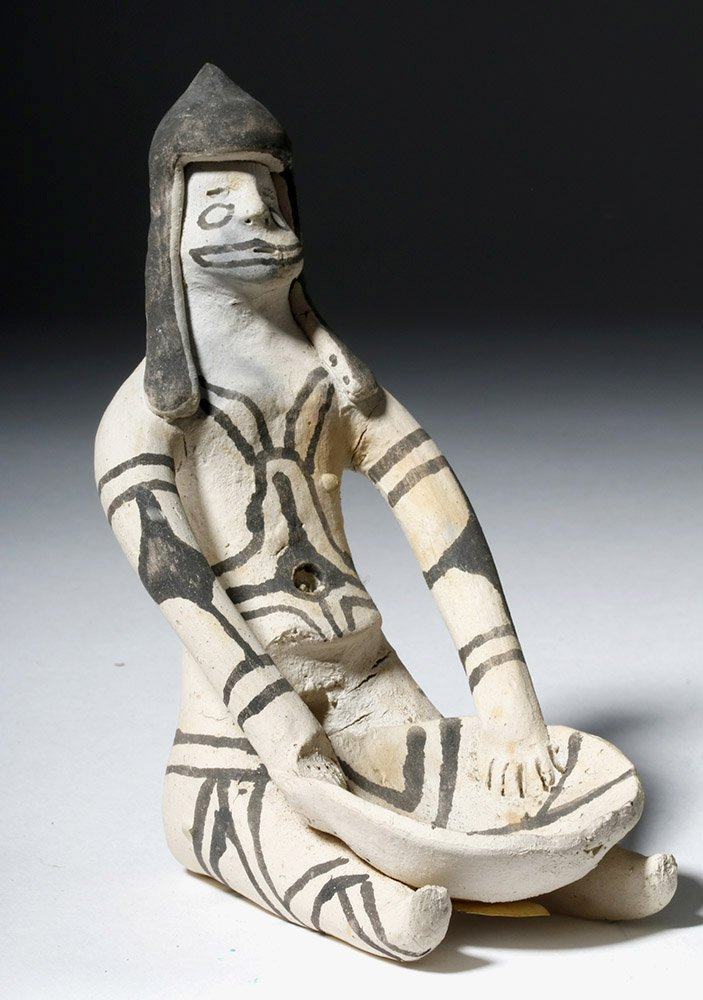 Amazonian Karaja Indian Pottery Female Figure - 4
