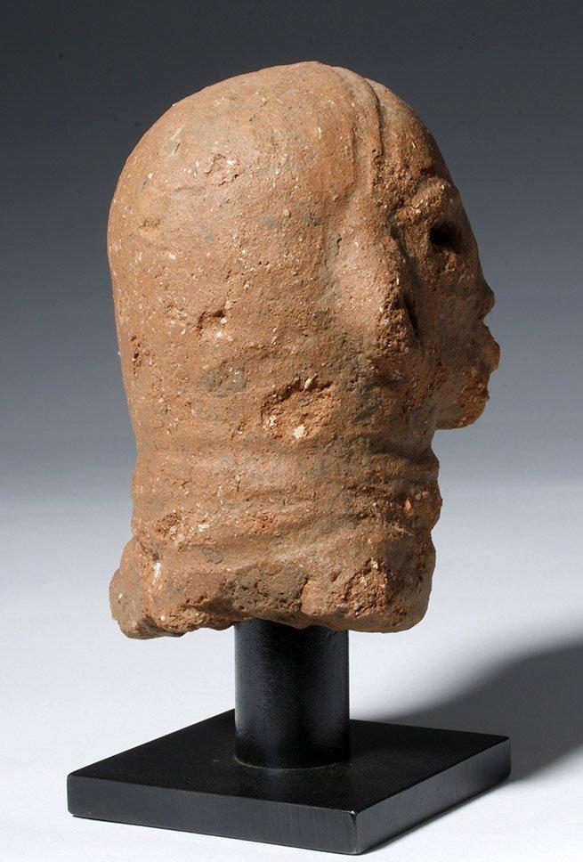 Ancient African Nok Terracotta Head - 3
