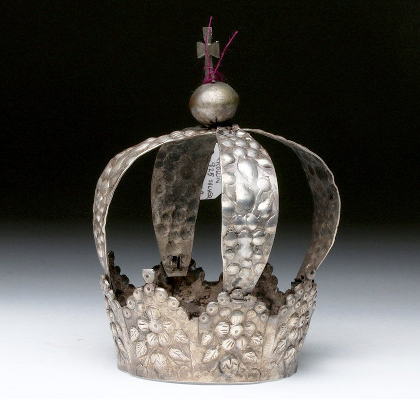19th C. Spanish Colonial Silver Crown, ex-Historia - 2