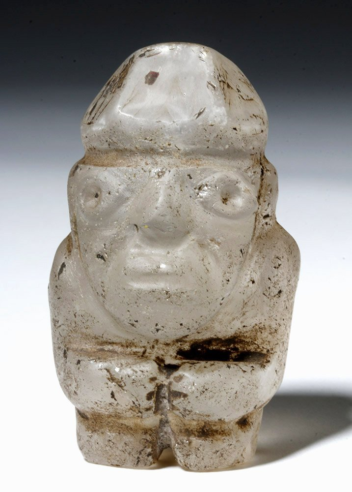 Huari Rock Crystal Human Figure - 5