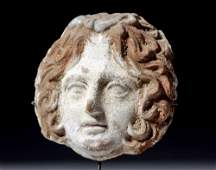 Greek Canosan Face of Gorgon (from Volute Krater)
