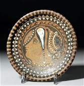 Greek Apulian Footed Plate w Lady of Fashion