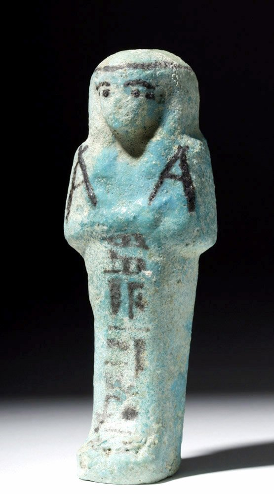 Egyptian Third Intermediate Period Faience Ushabti