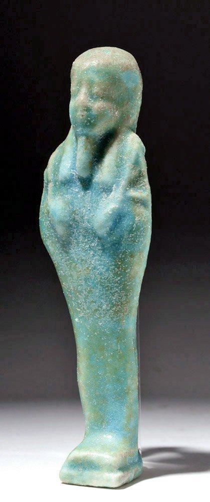 Ancient Egyptian Faience Ushabti - Ptolomeic