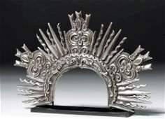 Bolivian Sterling Silver Resplendor Crown exHistoria
