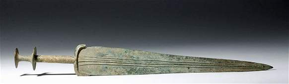 Superb Luristan Bronze Sword  23 Long