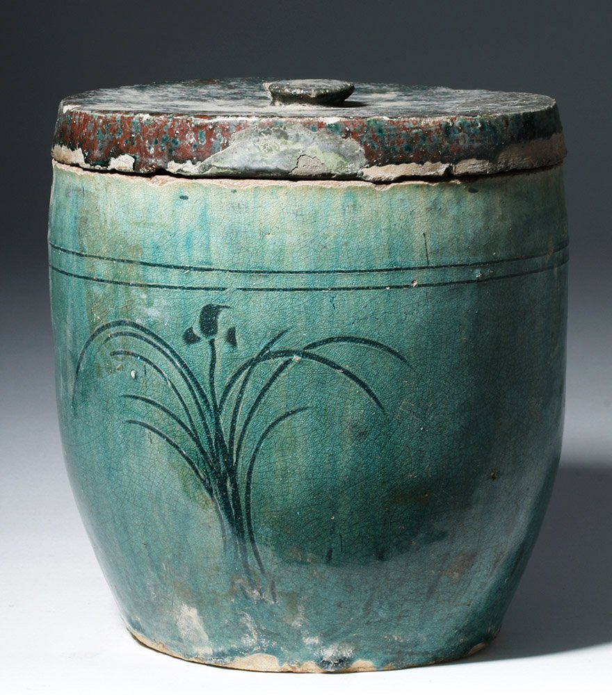 Lovely Chinese Qing Dynasty Pottery Oil Pot
