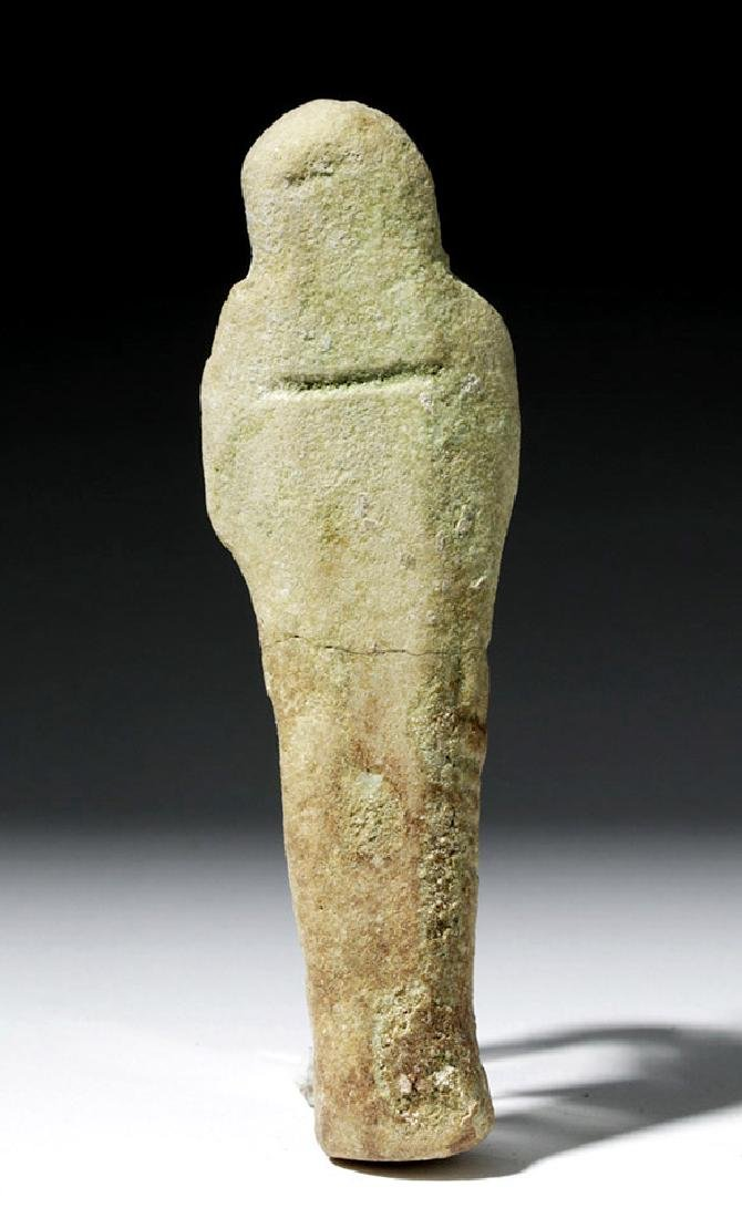 Ancient Egyptian Faience Ushabti with Hieroglyphs - 4