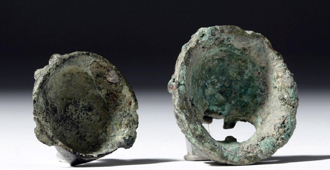 Roman Bronze Appliques - Face and Lion (pr) - 2